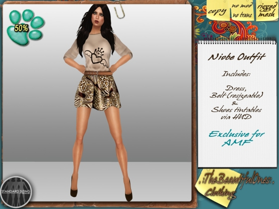 Niobe outfit 99L - 50% donation to SPCA.