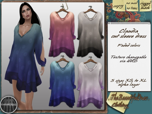 Claudia faded colors 75L each/240 pack