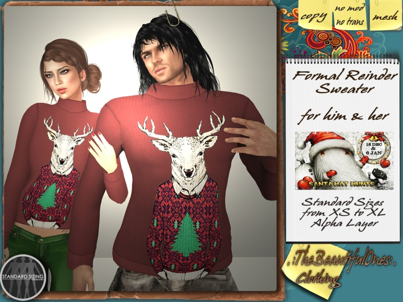 The Formal Reindeer swearers for him & her