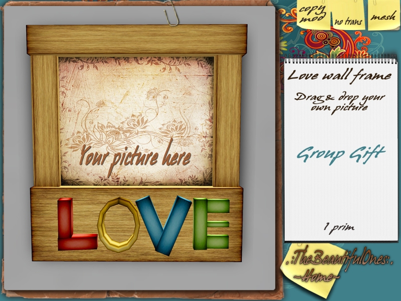 Love wall frame - group gift